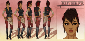 Euterpe - Character Reference Sheet by tbdoll