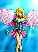 Angelic dark magician girl by lorellashray