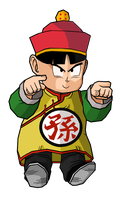 Kid Gohan 4 star dragon ball hat by RobertoVile