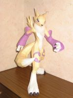 Digimon Renamon Papercraft by Saja-san