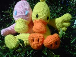 My duck and his girlfriend by crochetamommy