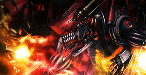 Red Mecha by Tay-X