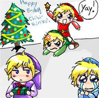 Link's Christmas feud by Marth-kun