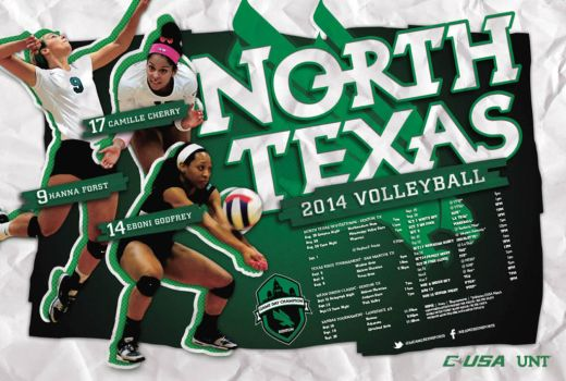 UNT Volleyball Poster by Satansgoalie