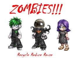 Earth Day Zombies by dinshino