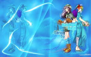 Rainbow Dash and Daring Do Wallpaper by Indivicivet