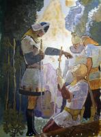 NC Wyeth, master-work painting by Bowsky
