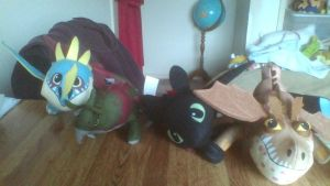 All My How To Train Your Dragon 2 Small Plushies by PokeLoveroftheWorld