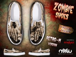 Retro- M Version- ZOMBIE shoes by corArze
