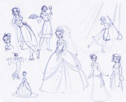 Tiana Sketchbook Montage by kuabci