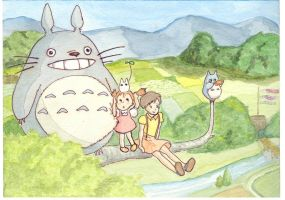tonari no totoro by claremonia