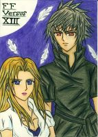 Noctis and Stella by dagga19 by dagga19
