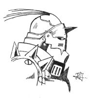 Alphonse Elric Inked by RusimRedom