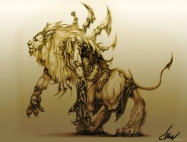 Lion Warrior_Beast warrior No.03 by drawfluent