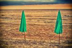 umbrellas on the beach by NCworks