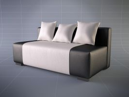 Leather Sofa by Brazowy