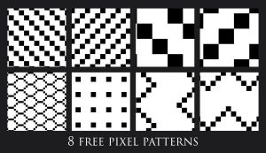 8 free pixel patterns by murr000
