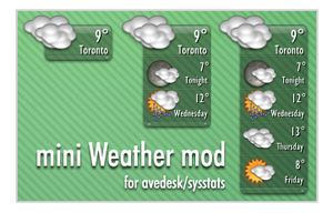 mini Weather mod by Hyral