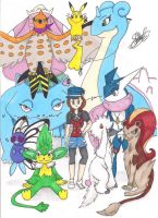 Pokemon Y Team by StellarChrondrite