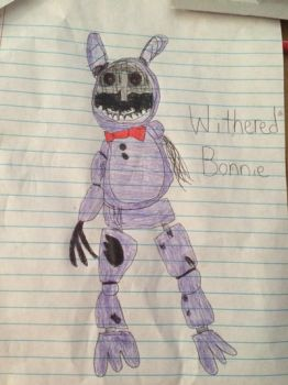 Withered Bonnie drawing :)  by Bri2004