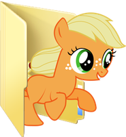 Custom filly Applejack folder icon by Blues27Xx