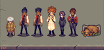 Character Lineup by gaypuff