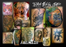 Animal collage by WildThingsTattoo