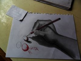 3D hand sketch by PauloPainface