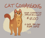 Cat Commissions Open by GreekCeltic