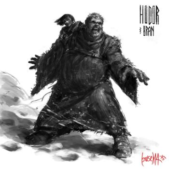 Hodor and Bran by JamesBousema