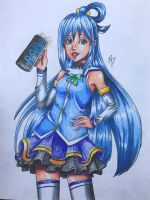 Aqua from konosuba (request) by Austin-Barnitz