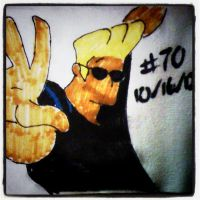 Napkin Art #70 - Aw, Mama - Johnny Bravo by PeterParkerPA