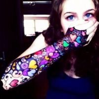 Sharpie Arm Tattoo by aquamarina135