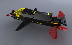 LEGO Invader Full Ship Back by zpaolo