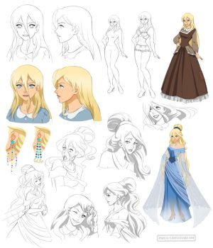 Disney princess design, Starina (commission) by Precia-T