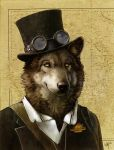 SteamWolf SteamPunk by SpamDragon