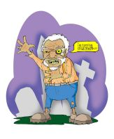 fred sanford zombie by WILLEYWORKS