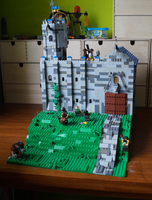 lego castle MOC front view by kabhes
