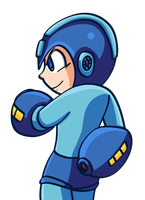 Mega Man by Eleckles