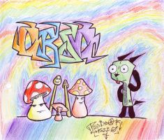 Psychedelic Mushrooms and GIR by PsyBear