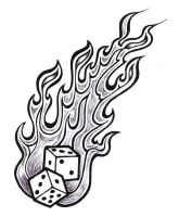 Flaming Dice by ppunker