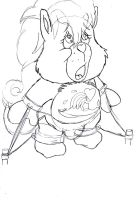 Care Bears - Hot Wave Horse - sketch. 8 by MortenEng21