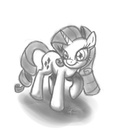 Quick Drill Butt Sketch by leadhooves