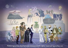 Tom and Kate's Star Wars wedding. by kgrachow