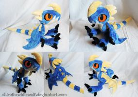 Deadly Nadder plushie by ShiroTheWhiteWolf