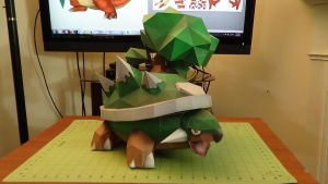 Pokemon Torterra Papercraft 4 by devastator006