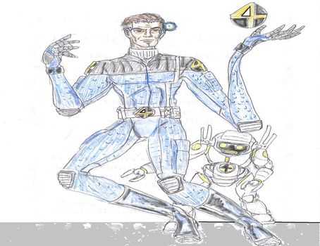 Fantastic 4 redesigns Reed and HERBIE by theaven