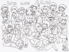 We are AMU - black and white by Tsukuyomaru