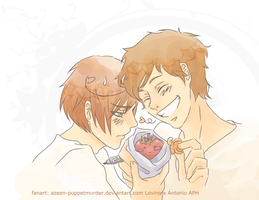 YAOI Romano Spain by DeerAzeen