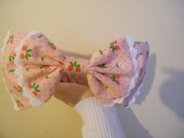 Pink Strawberry Lolita Bow 3 by EmoThing92